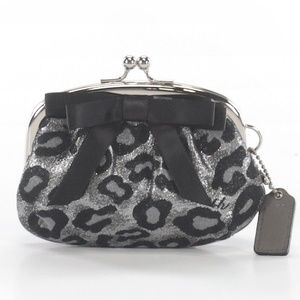 NWT Coach Leopard Print Coin Purse